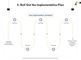 Roll Out The Implementation Plan User Training Ppt Powerpoint Presentation File Influencers