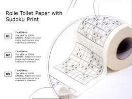 Rolle Toilet Paper With Sudoku Print