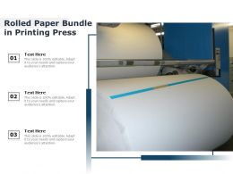 Rolled Paper Bundle In Printing Press