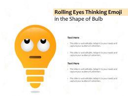 Rolling Eyes Thinking Emoji In The Shape Of Bulb