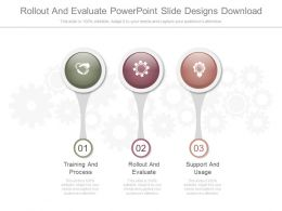 Rollout And Evaluate Powerpoint Slide Designs Download