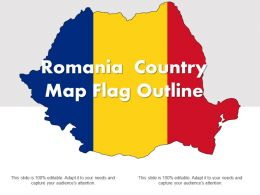 Romania Country Map Flag Outline