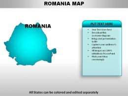 Romania Country Powerpoint Maps