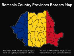 Romania Country Provinces Borders Map