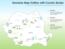 Romania Map Outline With Country Border
