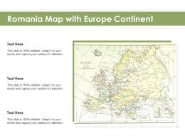 Romania Map With Europe Continent