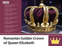 Romanian Golden Crown Of Queen Elizabeth