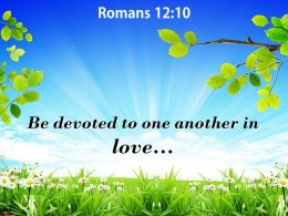 Romans 12 10 One Another In Love Powerpoint Church Sermon