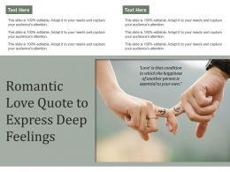 Romantic Love Quote To Express Deep Feelings