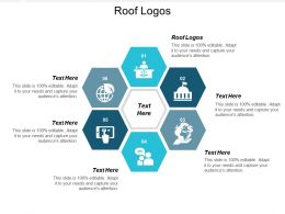 Roof Logos Ppt Powerpoint Presentation Infographic Template Picture Cpb