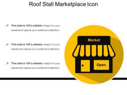 Roof Stall Marketplace Icon