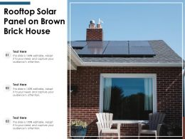 Rooftop Solar Panel On Brown Brick House