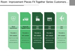 Room Improvement Pieces Fit Together Series Customers Package