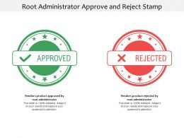 Root Administrator Approve And Reject Stamp