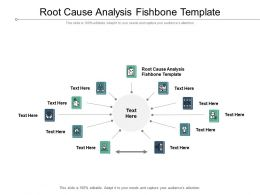Root Cause Analysis Fishbone Template Ppt Powerpoint Presentation Slides Slideshow Cpb