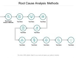 Root Cause Analysis Methods Ppt Powerpoint Presentation Infographics Influencers Cpb