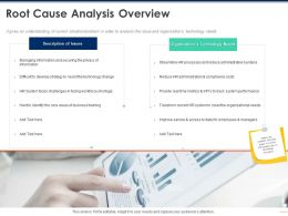 Root Cause Analysis Overview Business Ppt Powerpoint Presentation Ideas Background