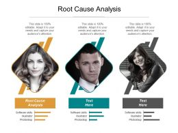 Root Cause Analysis Ppt Powerpoint Presentation Gallery Show Cpb