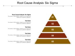 Root Cause Analysis Six Sigma Ppt Powerpoint Presentation Professional Icons Cpb