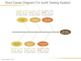 Root Cause Diagram For Audit Testing System Ppt Presentation