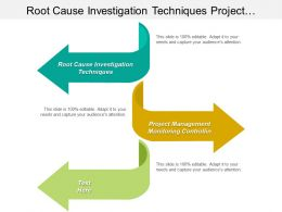 Root Cause Investigation Techniques Project Management Monitoring Controllin Cpb