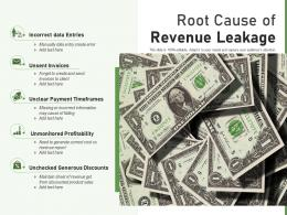 Root Cause Of Revenue Leakage