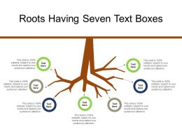 Roots Having Seven Text Boxes