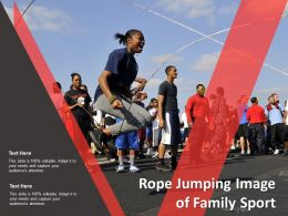 Rope Jumping Image Of Family Sport