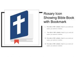 Rosary Icon Showing Bible Book With Bookmark