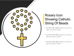 Rosary Icon Showing Catholic String Of Beads