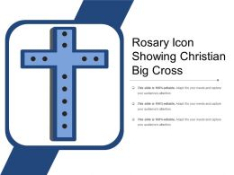 Rosary Icon Showing Christian Big Cross