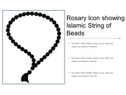 Rosary Icon Showing Islamic String Of Beads