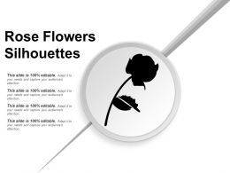 Rose Flowers Silhouettes Powerpoint Layout