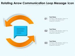 Rotating Arrow Communication Loop Message Icon