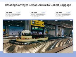 Rotating Conveyer Belt On Arrival To Collect Baggage