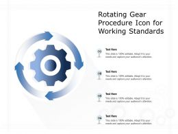 Rotating Gear Procedure Icon For Working Standards