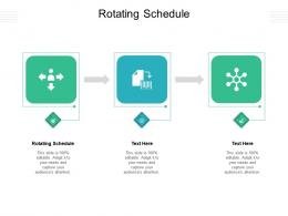 Rotating Schedule Ppt Powerpoint Presentation Infographics Background Cpb