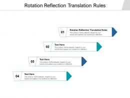Rotation Reflection Translation Rules Ppt Powerpoint Presentation Infographics Slide Download Cpb
