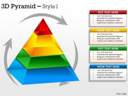 Rotational Design Triangle For Business