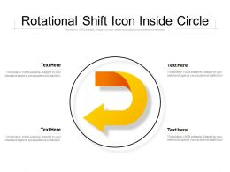 Rotational Shift Icon Inside Circle