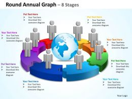 round annual graph 8 stages powerpoint diagrams presentation slides graphics 0912