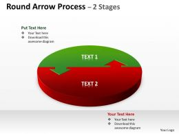 Round Arrow Process 2 Stages diagram 8