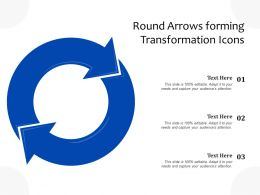 Round Arrows Forming Transformation Icons