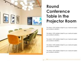 Round Conference Table In The Projector Room