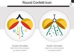 Round Confetti Icon