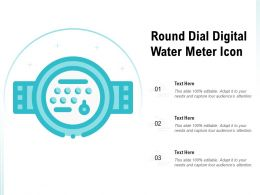 Round Dial Digital Water Meter Icon