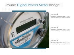 Round Digital Power Meter Image