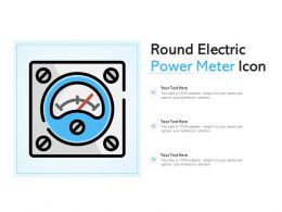 Round Electric Power Meter Icon