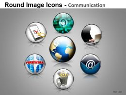 Round Image Icons Powerpoint Presentation Slides DB