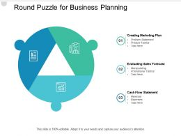 Round Puzzle For Business Planning